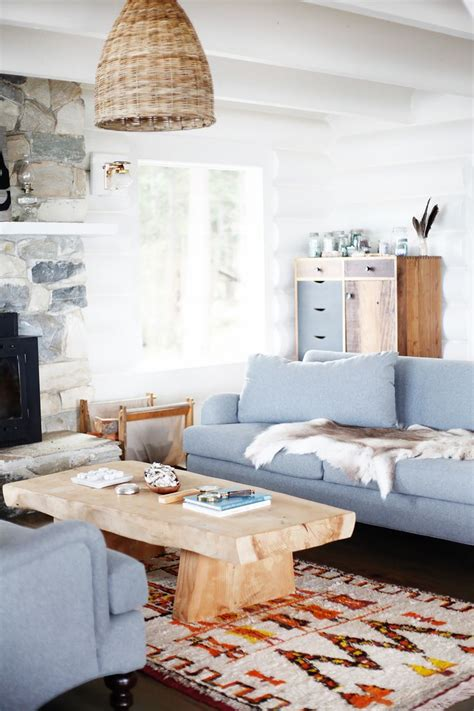 room within a room inside a restored midcentury log cabin we all want to retreat living room best light blue