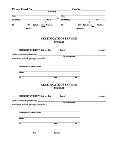 certificate of service template sle certificate of service image collections