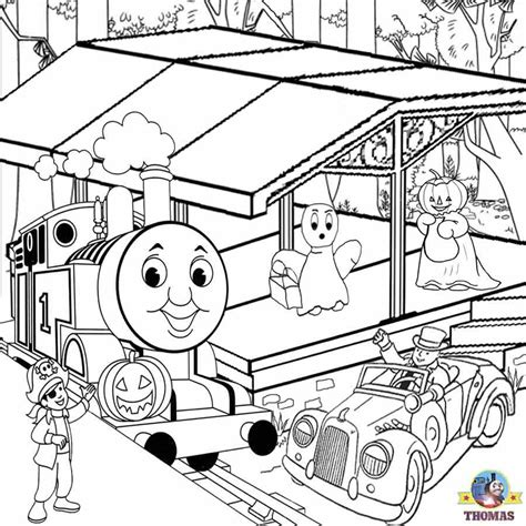 thomas halloween coloring pages coloring pages