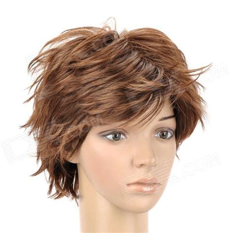 slightly curly man hair 8168 2 30 fashion man s slightly curly short hair wig
