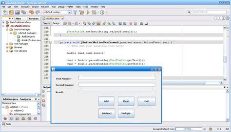 tutorial java calculator basic calculator w grading system free source code