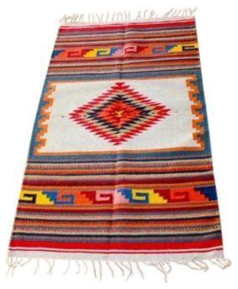 Mexican Style Area Rugs by Traditional Serape Style Rug Southwestern Area Rugs