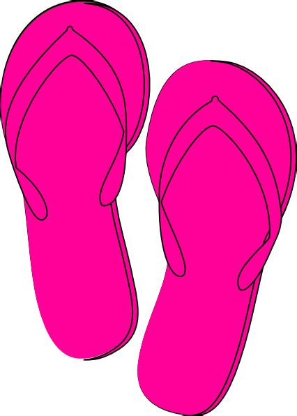 flip flops clip pink flip flops clip at clker vector clip