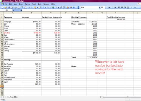 How To Make Budget Spreadsheet by How To Create A Budget Spreadsheet In Excel Spreadsheets