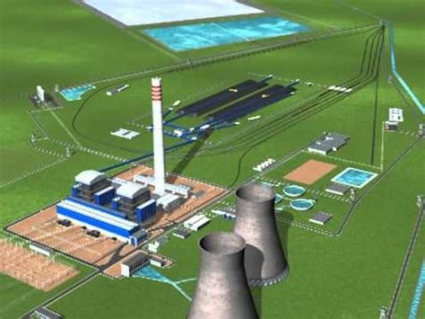 thermal power plant layout animation 3d walk through thermal power project india youtube