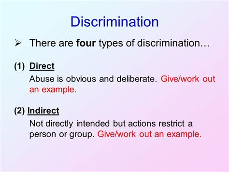 prejudice discrimination and disadvantage ppt video