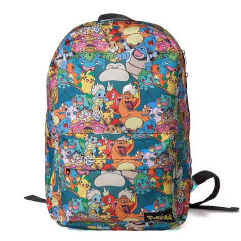 Tas Pouch Nintendo Switch pok 233 mon all characters backpack nintendo official