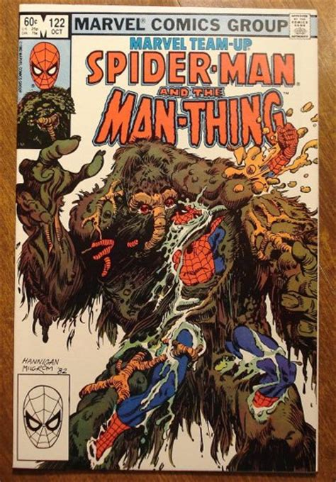 the thing marvel comic book marvel team up 122 spider man the man thing comic book