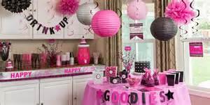 Fuschia Vase Black Amp Pink Birthday Party Supplies Party City