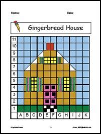 mathwire gingerbread house coordinate graphing