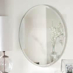 oval bathroom wall mirrors d 233 cor wonderland odelia oval bevel frameless wall mirror 22w x 28h in mirrors at hayneedle