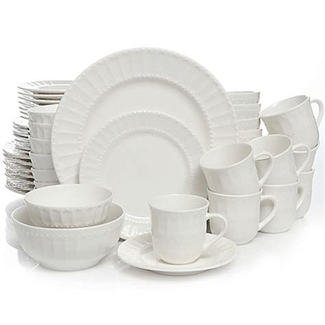 gibson home heritage place  piece dinnerware set bed