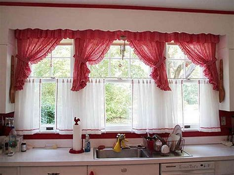 kitchen bay window curtains some kitchen window ideas for your home