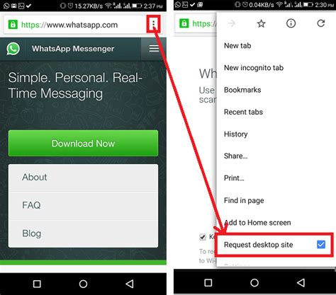 desktop site login android how to on whatsapp for free without any software