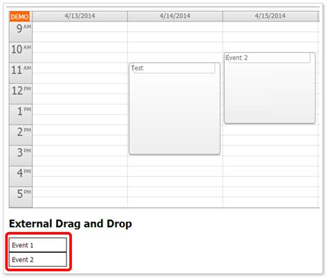 design html page with drag and drop html5 event calendar touch events customization asp net