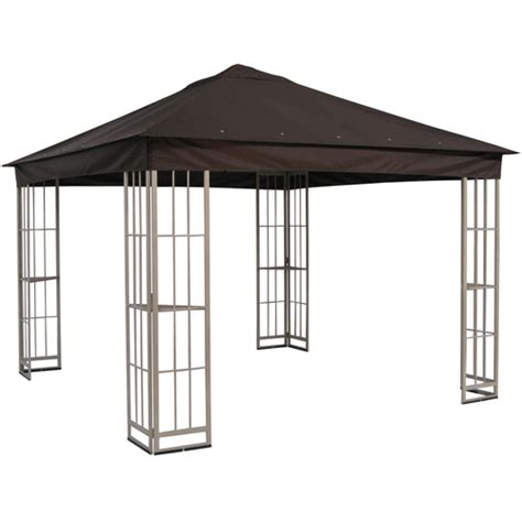lowes gazebo metal garden treasures gazebo from lowes with insect net