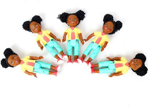 Aksesoris Statoskop Kecil Untuk Boneka aliexpress beli 5 pcs kecil asli boneka mini africa hitam anak anak gadis untuk