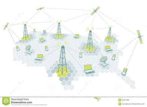 telecommunication working diagram stock vector illustration  communications telephone