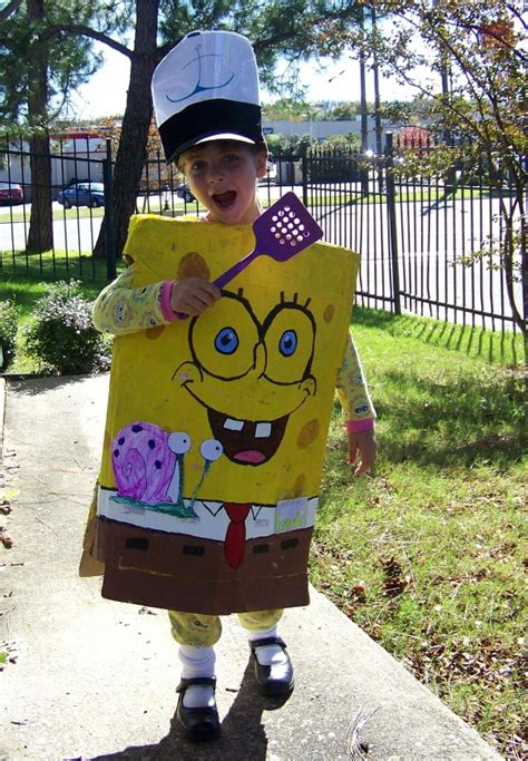 Spongebob Wardrobe by How To Make A No Sew Sponge Bob Costume