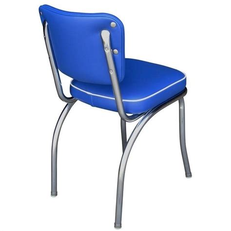 Royal Blue Dining Chairs Richardson Seating Retro 1950 S Diner Dining Chair In Royal Blue 4210rbl