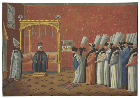 ottoman court two ottoman court scenes after an engraving by antoine
