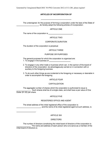 articles of association template articles of organization template template design