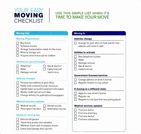 Office Move Checklist Template Excel Neorx Beautiful 5 Moving Checklist Templates Word Office Move Checklist Template
