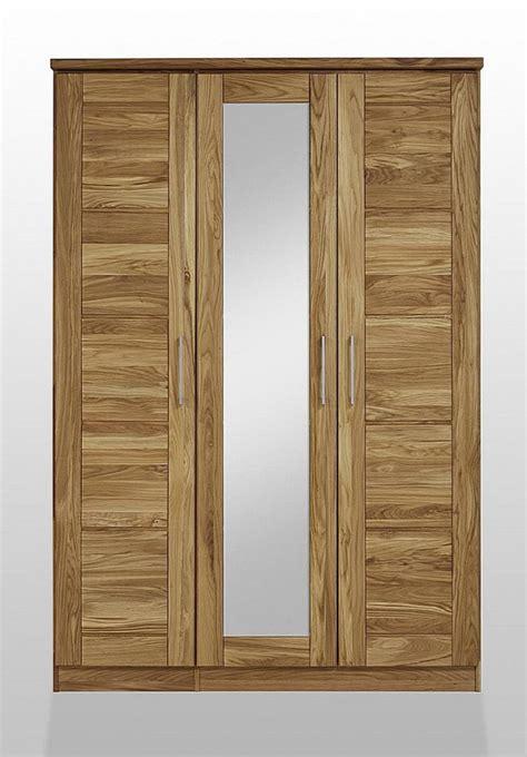 schlafzimmerschrank wildeiche massiv kleiderschrank 3t 252 rig 1 spiegel mit kranz wildeiche