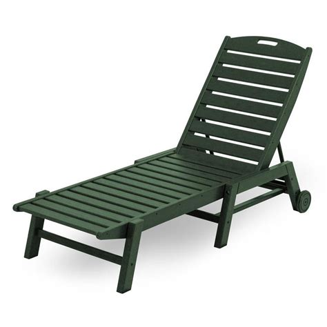 Plastic Chaise Lounge Chair by Shop Polywood Nautical Stackable Plastic Chaise Lounge