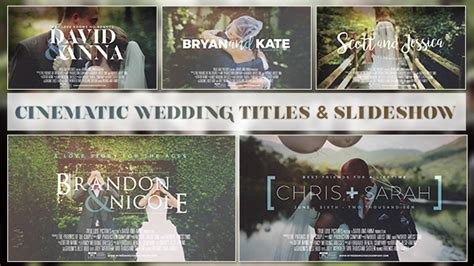 Videohive Cinematic Wedding Slideshow After Effects Templates Free After Effects Template Wedding Photo Slideshow Template
