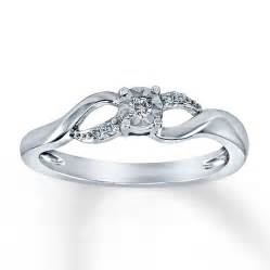 promise ring 1 20 ct tw cut sterling silver