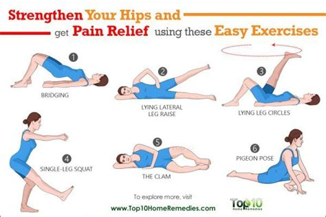 10 easy exercises to strengthen your hips and to relieve top 10 home remedies