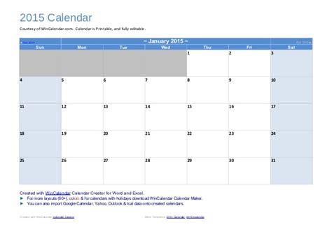 wincalendar editable calendar calendar template 2016