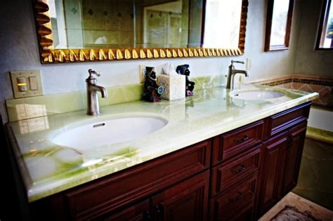 onyx bathroom countertops green onyx vanity top traditional bathroom seattle