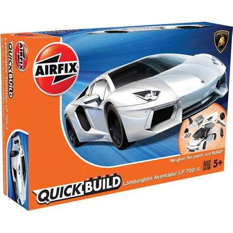Lamborghini Aventador Model Kit by Airfix Build White Lamborghini Aventador Model Kit