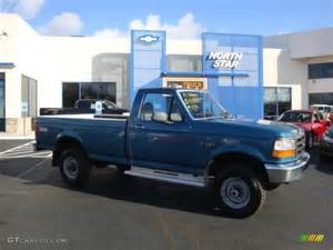 1996 reef blue metallic ford f250 xl regular cab 4x4