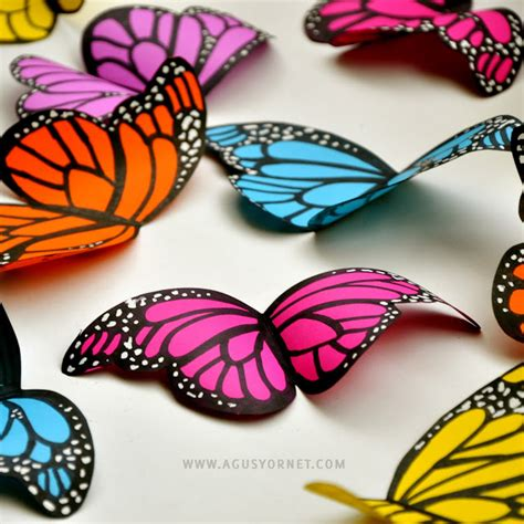 Make A Butterfly With Paper - craft tutorials galore at crafter holic paper butterflies