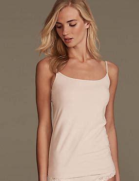 ladies vest & camisole tops   womens long crop tops   m&s