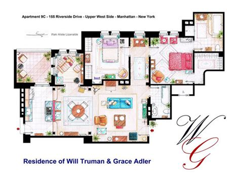 layout of monica s apartment 10 floor plans of the most famous tv apartments in the