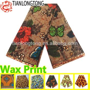 batik style java wax print fabric 6 yards