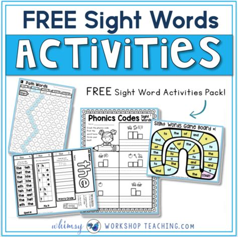 printable sight word board games 18 sight words strategies and resources whimsy workshop