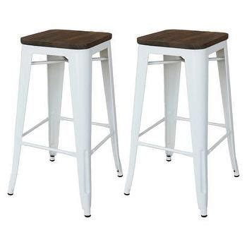 target white metal bar stools threshold nautical metal accent stool white i target