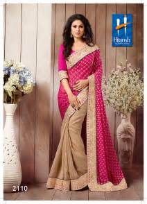 Buy pink amp cream georgette designer saree with blouse piece online