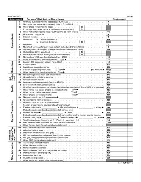 unrecaptured section 1231 losses form 1065 u s return of partnership income 2014 free