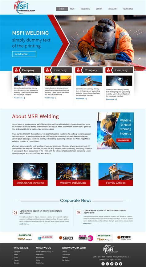 theme name newspaper profesional serio web design for icelandic welding