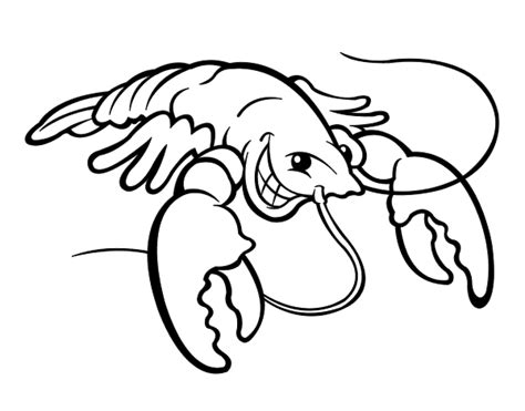 dibujo de langosta sonriente para colorear dibujos net
