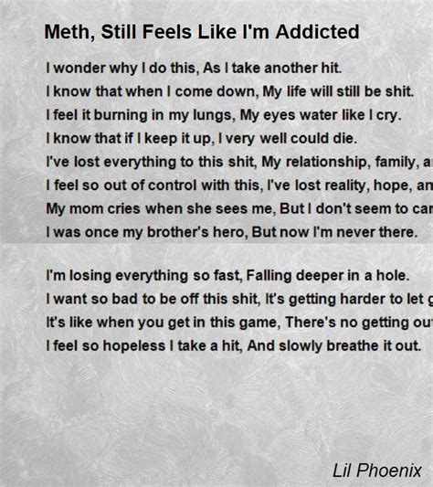 tion poem this poem will your if you meth still feels like i m addicted poem by lil Addi