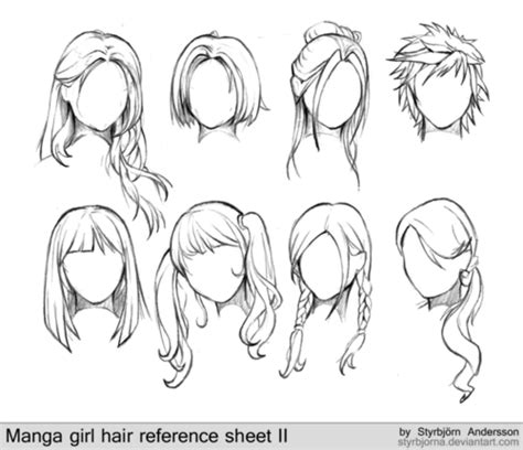 easy way to draw hairstyles manga tutorial hair