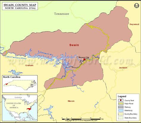swain county map north carolina