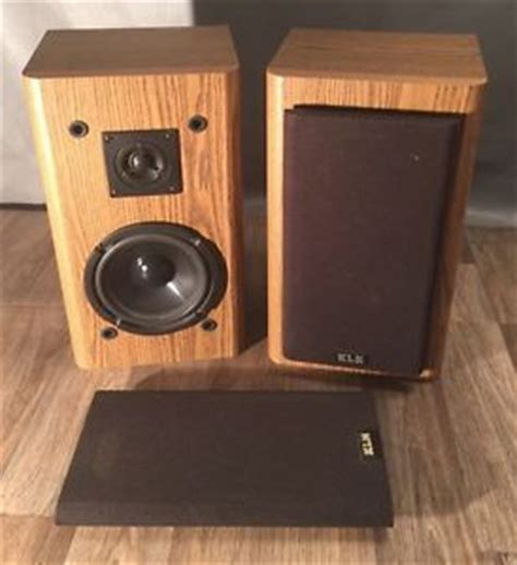 vintage klh av2001 stereo floor bookshelf speakers two way